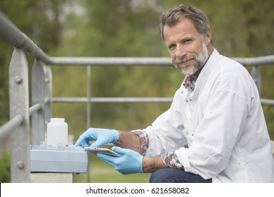 scientist working water analysis