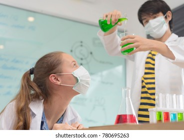 Scientists test lab chemicals