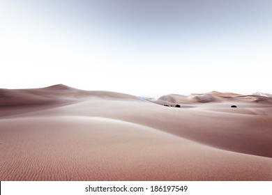 Sci-Fi like desert landscape background with dreamy tone