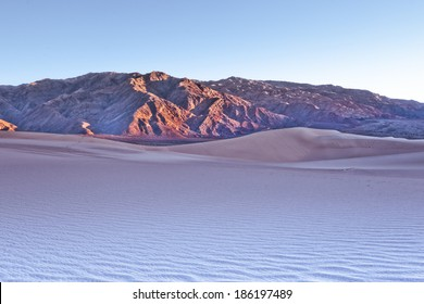 Sci-Fi Mars like desert landscape background with dreamy colour