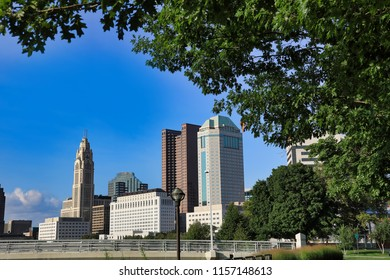 The Scioto Mile Park adds green space to the downtown district of Columbus, Ohio in the USA.