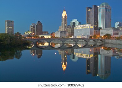 Scioto River and Columbus Ohio skyline