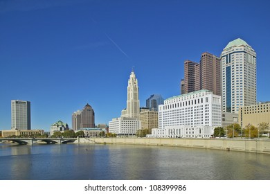 Scioto River and Columbus Ohio skyline
