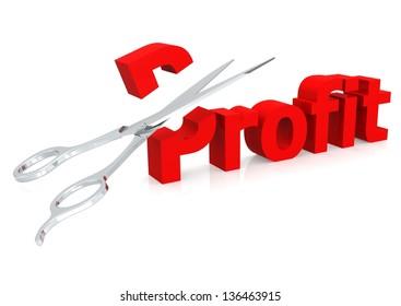 Scissor and profit