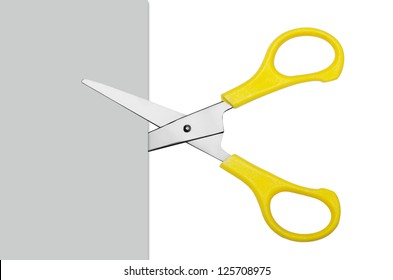 scissors cutting paper