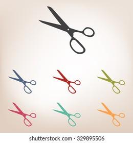 scissors icon set