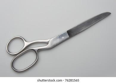 scissors isolated on gray