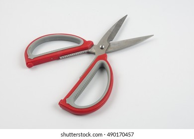 Scissors isolated on a white background. copy space