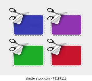 scissors with label