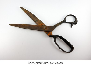 Scissors opening isolated on white background