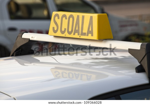 Scoala - Romanian driving school car sign