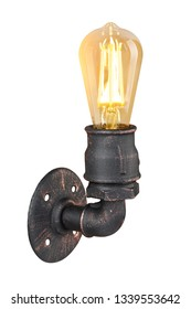 sconce/wall lamp on isolated background