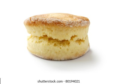scone isolated on white background , buttermilk biscuit