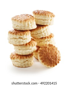 scones on a white background