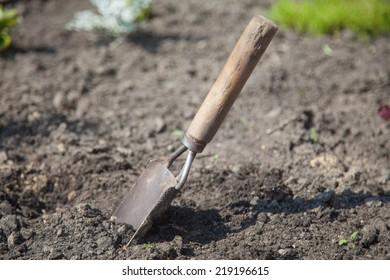 Scoop close up. Gardening tools