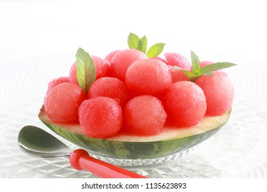 Scooped out from the rind, this melon snack or summer dessert is low calorie, low fat and refreshing