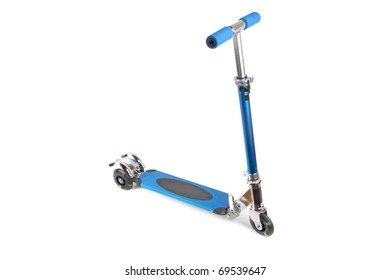 a  scooter for children with white background