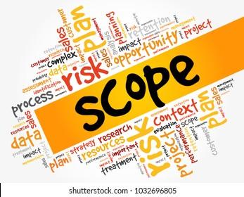 SCOPE word cloud, business concept