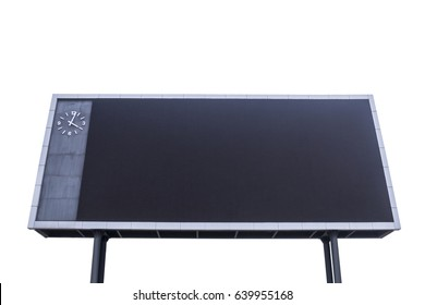 Scoreboard with black blank screen for reporting sporting events. Isolated white background