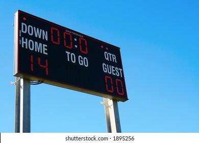 scoreboard, football