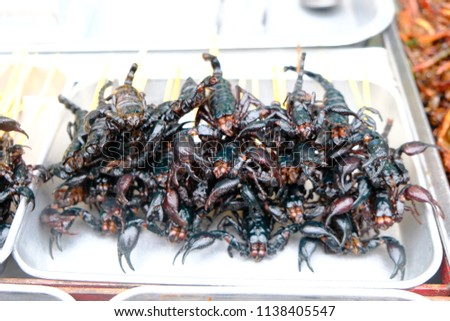 Scorpian Snack Food Thailand Stock Photo (Edit Now) 1138405547