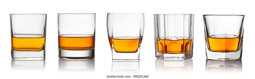 scotch whiskey on a white background