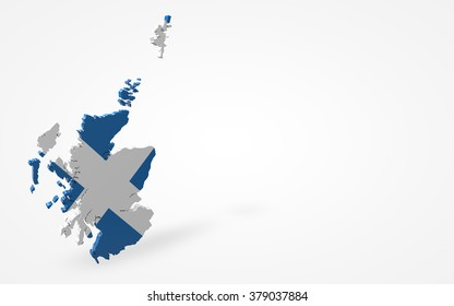 Scotland flag 3d perspective view isolated