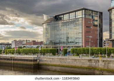 SCOTLAND - GLASGOW, JULY 21, 2017:  Modern office building at 200 Brommielaw in Glasgow.  This is withing the Glasgow International Financial Services area.