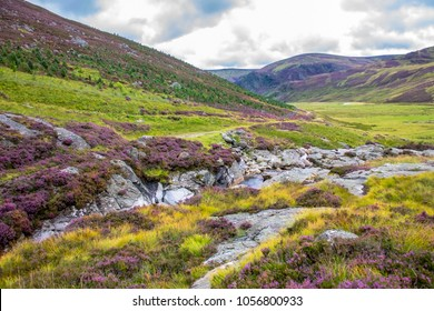 Scotland landscape. Angus, Scotland, Cairngorm Mountain south of the Grampian.
