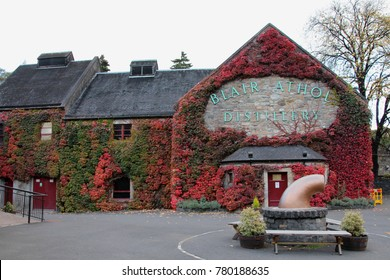 SCOTLAND, PERTHSHIRE, PITLOCHRY - OCTOBER 15, 2014: Building of the Blair Athol Distillery