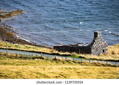 Scotland, Shetland Islands, Beautiful view of island