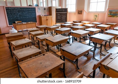 SCOTLAND-GLASGOW, JUNE 08, 2011: Classroom in Scotland Street School, Glasgow, Scotland.  Designed and built by architect Charles Rennie Mackintosh between 1903 and 1906.