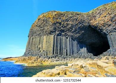 Scotland's famous basalt cave