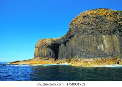 Scotland's famous basalt formations and cave