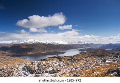 Scotland's Loch Maree in the spring sunshine