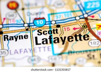Rayne Louisiana Usa On Map Stock Photo Edit Now 1131355853