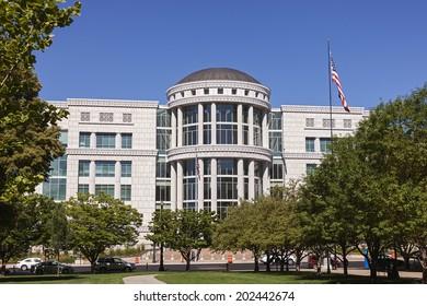 Scott M. Matheson Courthouse in Downtown Salt Lake City, Utah