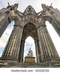 Scott Monument on Princes Street in Edinburgh (Scotland)