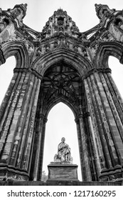 Scott monument - Sir Walter Scott memorial in Edinburgh, Scotland