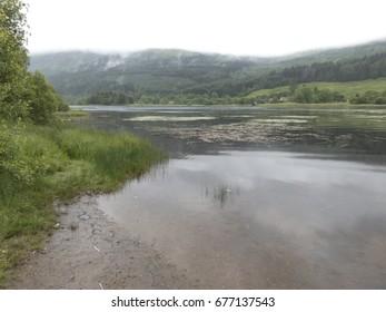 Scottisch landscape with a lake