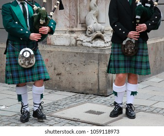 Scottish bagpipers duet