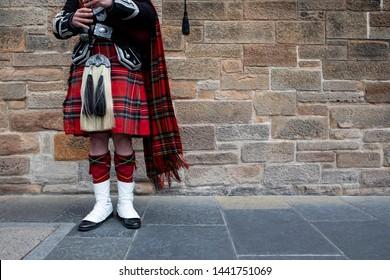 Scottish Bagpipes Player in Edinburgh