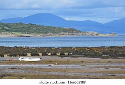 Scottish Beach Landscape - boat in Foreground