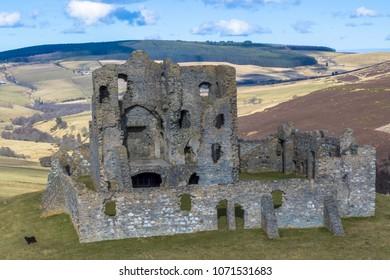Scottish castle in remote area