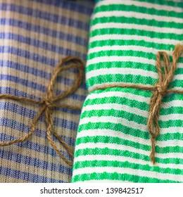 Scottish chintz tied with rope
