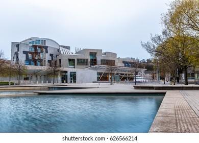 Scottish contemporary parliament in Edinburgh
