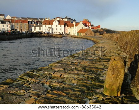 Scottish fishing village