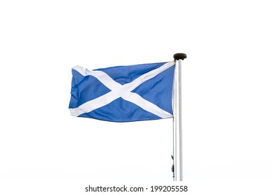 The Scottish flag or saltire