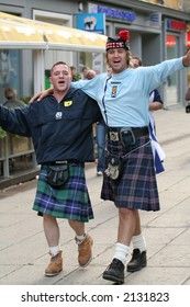 Scottish football fans in Lithuania