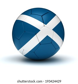 Scottish Football (isolated with clipping path)
